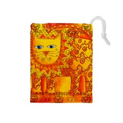 Patterned Lion Drawstring Pouches (medium)  by julienicholls