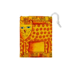 Patterned Leopard Drawstring Pouches (small)  by julienicholls