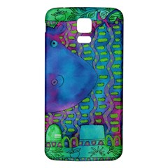 Patterned Hippo Samsung Galaxy S5 Back Case (White)