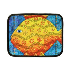 Patterned Fish Netbook Case (small)  by julienicholls