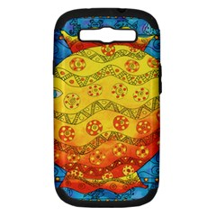 Patterned Fish Samsung Galaxy S Iii Hardshell Case (pc+silicone) by julienicholls
