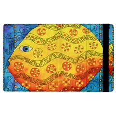 Patterned Fish Apple Ipad 2 Flip Case by julienicholls