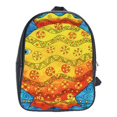 Patterned Fish School Bags (XL)  by julienicholls