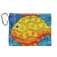 Patterned Fish Canvas Cosmetic Bag (XL)  by julienicholls