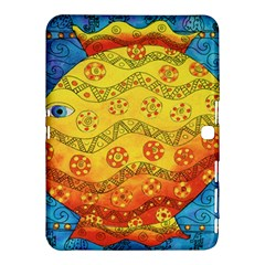 Patterned Fish Samsung Galaxy Tab 4 (10 1 ) Hardshell Case  by julienicholls