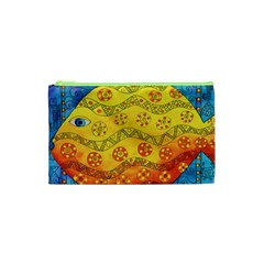 Patterned Fish Cosmetic Bag (xs) by julienicholls