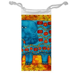 Patterned Elephant Jewelry Bags by julienicholls