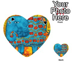Patterned Elephant Playing Cards 54 (Heart)
