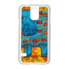 Patterned Elephant Samsung Galaxy S5 Case (white) by julienicholls