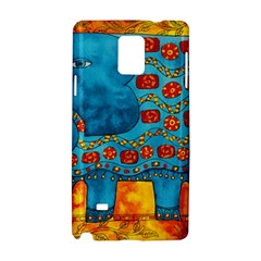 Patterned Elephant Samsung Galaxy Note 4 Hardshell Case by julienicholls