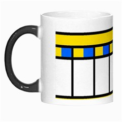 Stripes And Squares Morph Mug by LalyLauraFLM
