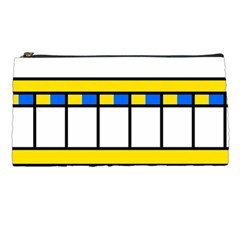 Stripes And Squares Pencil Case by LalyLauraFLM