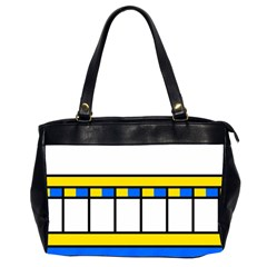 Stripes And Squares Oversize Office Handbag (2 Sides) by LalyLauraFLM