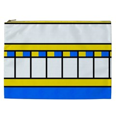 Shapes In Retro Colors Cosmetic Bag (xxl) by LalyLauraFLM