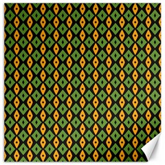 Green Yellow Rhombus Pattern Canvas 16  X 16  by LalyLauraFLM