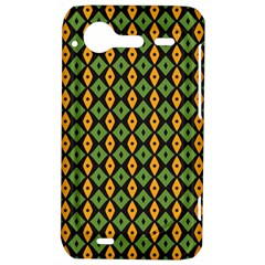 Green yellow rhombus pattern HTC Incredible S Hardshell Case  by LalyLauraFLM