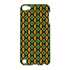 Green Yellow Rhombus Pattern Apple Ipod Touch 5 Hardshell Case by LalyLauraFLM