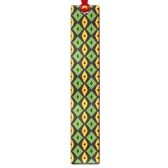 Green Yellow Rhombus Pattern Large Book Mark by LalyLauraFLM