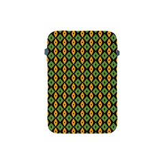 Green Yellow Rhombus Pattern Apple Ipad Mini Protective Soft Case by LalyLauraFLM