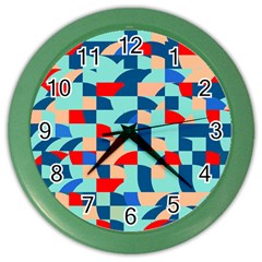 Miscellaneous Shapes Color Wall Clock by LalyLauraFLM