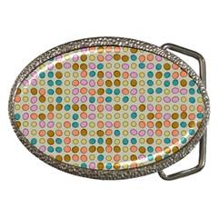 Retro Dots Pattern Belt Buckle by LalyLauraFLM