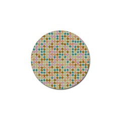 Retro Dots Pattern Golf Ball Marker (4 Pack) by LalyLauraFLM