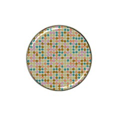Retro Dots Pattern Hat Clip Ball Marker by LalyLauraFLM