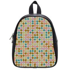 Retro dots pattern School Bag (Small) by LalyLauraFLM