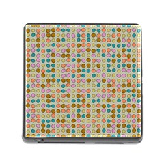 Retro Dots Pattern Memory Card Reader (square) by LalyLauraFLM