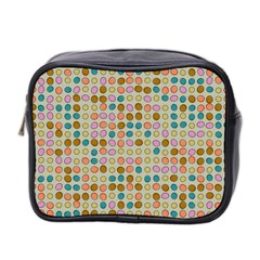 Retro Dots Pattern Mini Toiletries Bag (two Sides) by LalyLauraFLM