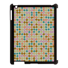 Retro Dots Pattern Apple Ipad 3/4 Case (black) by LalyLauraFLM