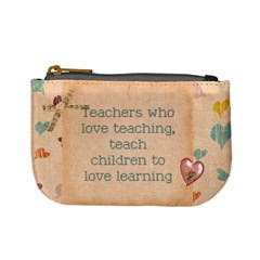 Teacher Love Coin Change Purse by MaxsGiftBox
