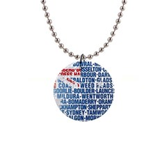 Australia Place Names Flag Button Necklaces by theimagezone