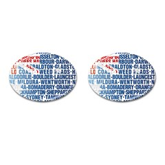 Australia Place Names Flag Cufflinks (oval) by theimagezone