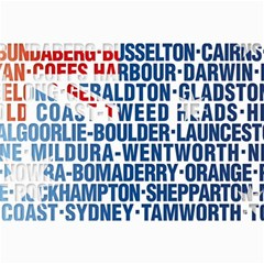 Australia Place Names Flag Collage 12  x 18