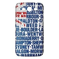 Australia Place Names Flag Samsung Galaxy Mega 5 8 I9152 Hardshell Case  by theimagezone