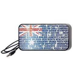 Australia Place Names Flag Portable Speaker (Black)  by theimagezone