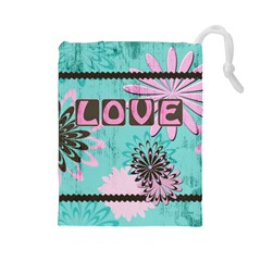 Love Drawstring Pouch (large) by MaxsGiftBox