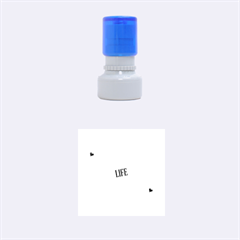 Live The Life You Love Rubber Round Stamps (Small) by theimagezone