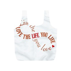 Live The Life You Love Full Print Recycle Bags (s)  by theimagezone