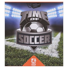 Time Of Soccer   Level 4 By Rafal Lutczyk   Drawstring Pouch (large)   Z74yr9vgbh8w   Www Artscow Com Front