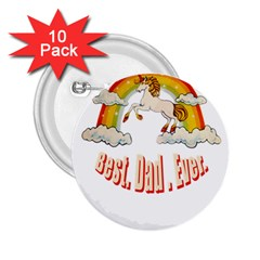 Best  Dad  Ever  2 25  Buttons (10 Pack)  by redcow