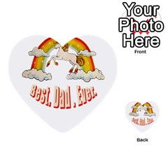 Best  Dad  Ever  Multi Purpose Cards (heart)  by redcow