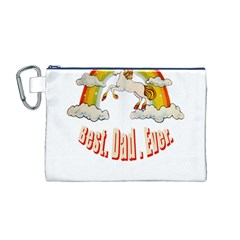 Best  Dad  Ever  Canvas Cosmetic Bag (m) by redcow