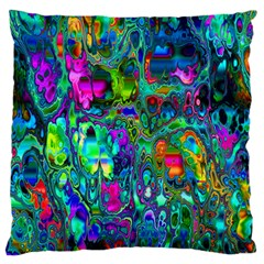 Inked Spot Fractal Art Large Flano Cushion Case (two Sides) by TheWowFactor