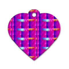 Pink Cell Mate Dog Tag Heart (one Side) by TheWowFactor