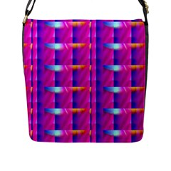 Pink Cell Mate Flap Messenger Bag (l)  by TheWowFactor