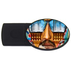 Graffiti Sunglass Art Usb Flash Drive Oval (2 Gb)  by TheWowFactor