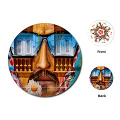 Graffiti Sunglass Art Playing Cards (round)