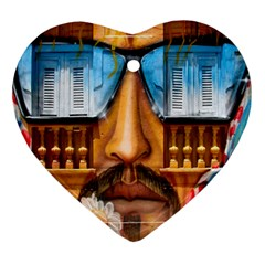 Graffiti Sunglass Art Heart Ornament (2 Sides) by TheWowFactor
